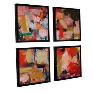 ArtWall Allan Friedlander 'Entropy' 4 Piece Floater Framed Canvas Square Set