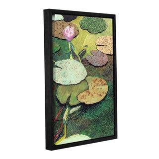 ArtWall Allan Friedlander 'Emerald Pond' Gallery-wrapped Floater-framed Canvas
