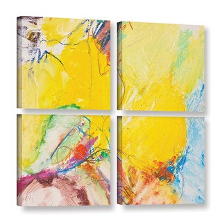 ArtWall Allan Friedlander 'Crystal' 4 Piece Gallery-wrapped Canvas Square Set