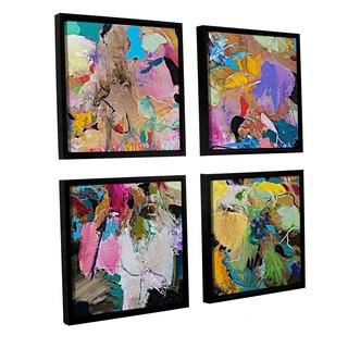 ArtWall Allan Friedlander 'Capri' 4 Piece Floater Framed Canvas Square Set