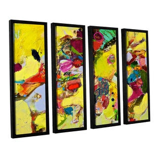 ArtWall Allan Friedlander 'Bumble' 4 Piece Floater Framed Canvas Set