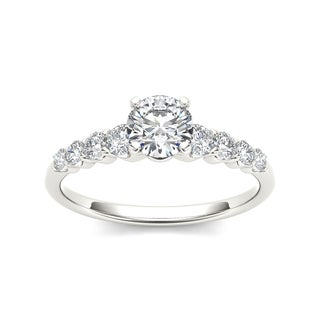De Couer 14k White Gold 3/4ct TDW Classic Diamond Engagement Ring - White H-I
