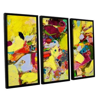ArtWall Allan Friedlander 'Bumble' 3 Piece Floater Framed Canvas Set