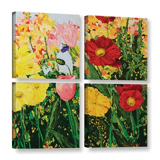 ArtWall Allan Friedlander 'Blue Skies And Sunshine' 4 Piece Gallery-wrapped Canvas Square Set