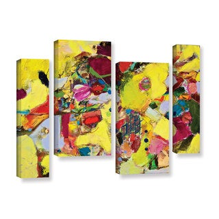ArtWall Allan Friedlander 'Bumble' 4 Piece Gallery-wrapped Canvas Staggered Set