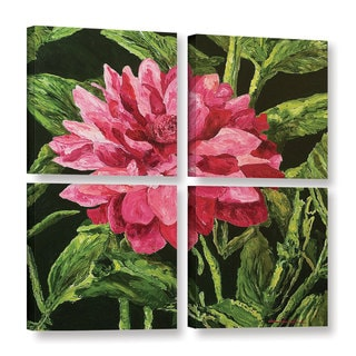 ArtWall Allan Friedlander 'Bloom' 4 Piece Gallery-wrapped Canvas Square Set