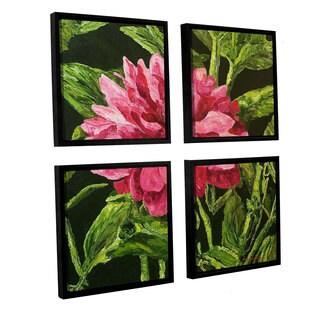 ArtWall Allan Friedlander 'Bloom' 4 Piece Floater Framed Canvas Square Set