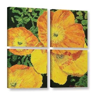 ArtWall Allan Friedlander 'Blazing Glory' 4 Piece Gallery-wrapped Canvas Square Set