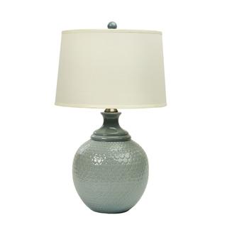 Fangio Lighting Cotton Crackle Ceramic Table Lamp