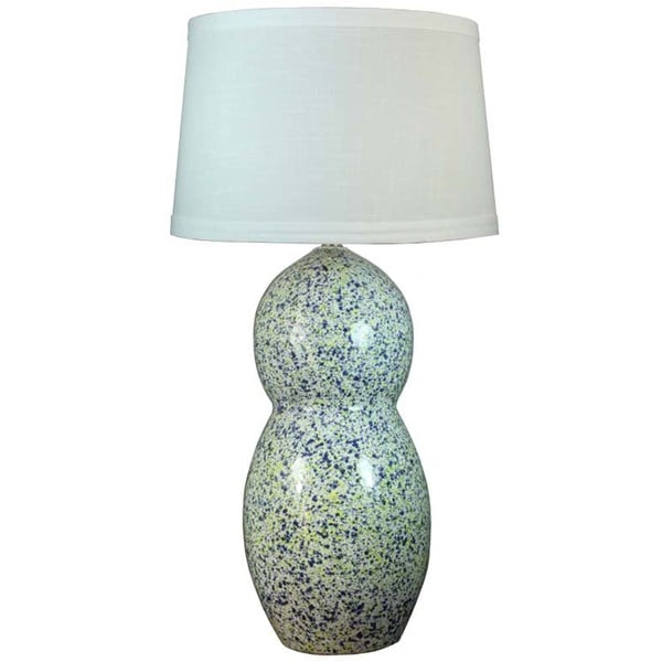 Fangio Lighting Blue and Yellow Granite Ceramic Table Lamp