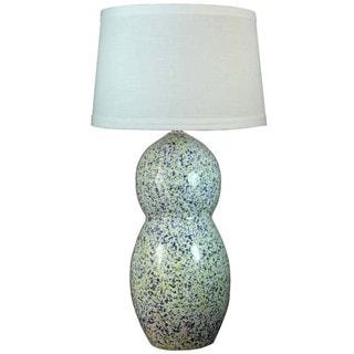 Fangio Lighting Blue and Yellow Granite Ceramic Table Lamp