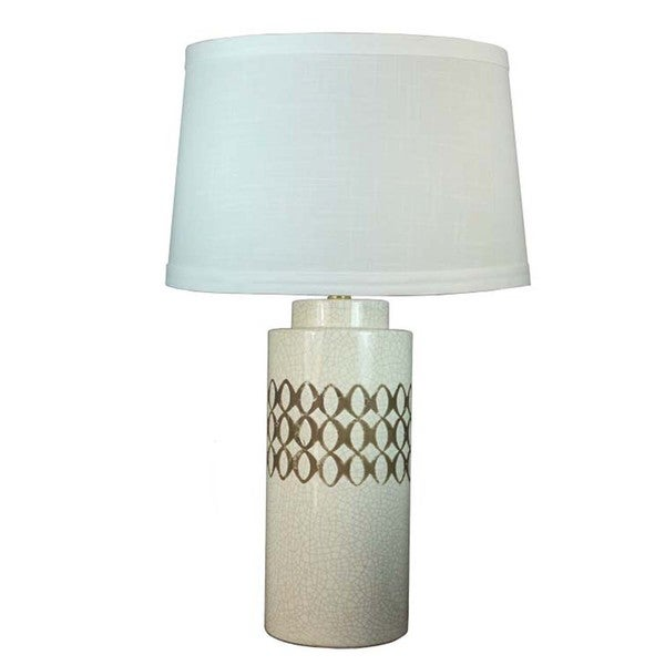 Fangio Lighting Brown Stain Ceramic Table Lamp