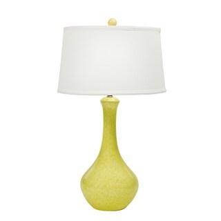 Fangio Lighting Reactive Yellow Ceramic Table Lamp