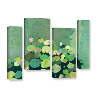 ArtWall Allan Friedlander 'Betty'S Serenity Pond' 4 Piece Gallery-wrapped Canvas Staggered Set