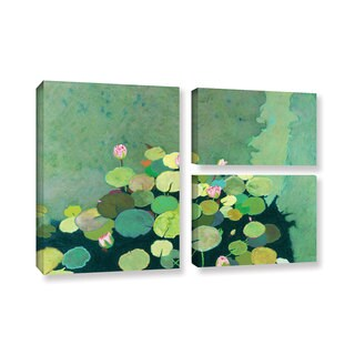 ArtWall Allan Friedlander 'Betty'S Serenity Pond' 3 Piece Gallery-wrapped Canvas Flag Set