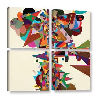 ArtWall Allan Friedlander 'Atherton' 4 Piece Gallery-wrapped Canvas Square Set