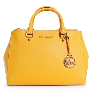Michael Kors Sutton Medium Saffiano Leather Satchel Handbag