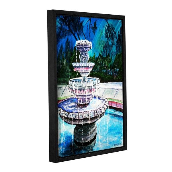 ArtWall Derek Mccrea 'Water Fountain' Gallery-wrapped Floater-framed Canvas