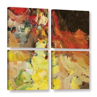 ArtWall Allan Friedlander 'After The Ball' 4 Piece Gallery-wrapped Canvas Square Set