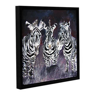 ArtWall Derek Mccrea 'Zebra' Gallery-wrapped Floater-framed Canvas