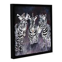 ArtWall Derek Mccrea 'Zebra' Gallery-wrapped Floater-framed Canvas