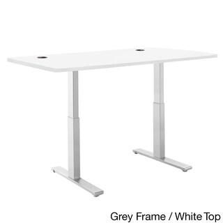 Autonomous SmartDesk - Height-Adjustable Standing Desk - Dual Motor - Gray Frame - Classic Top