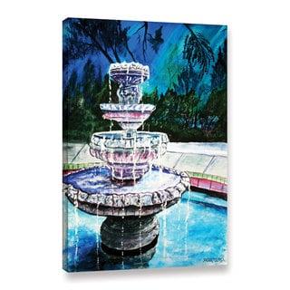 ArtWall Derek Mccrea 'Water Fountain' Gallery-wrapped Canvas