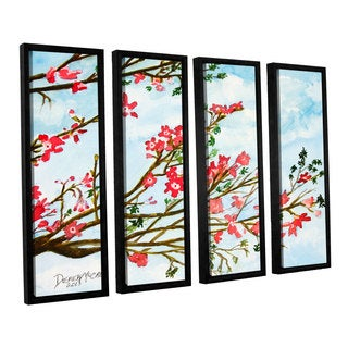 ArtWall Derek Mccrea 'Tree Flowers' 4 Piece Floater Framed Canvas Set