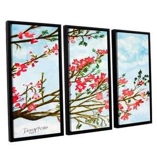 ArtWall Derek Mccrea 'Tree Flowers' 3 Piece Floater Framed Canvas Set
