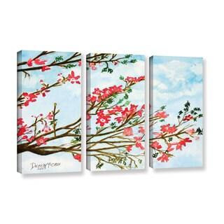 ArtWall Derek Mccrea 'Tree Flowers' 3 Piece Gallery-wrapped Canvas Set