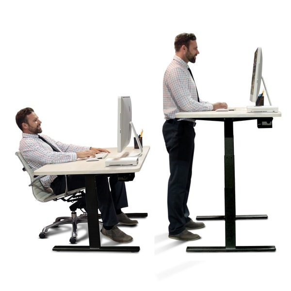 desk relief blinds stand vivo platform standing black ergonomic height foot for rest product adjustable