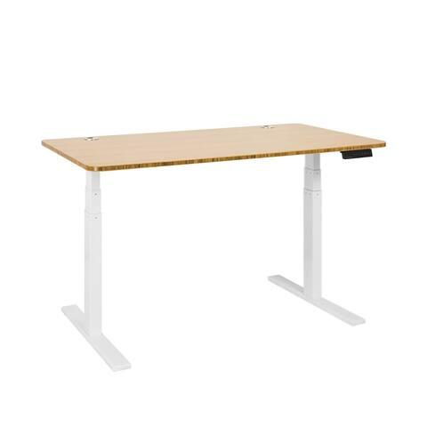 Autonomous SmartDesk - Height-Adjustable Standing Desk - Dual Motor - White Frame - Classic Top
