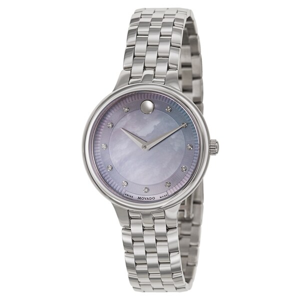 4c4493be0f5 Shop Movado Women s  Trevi  Stainless Steel Swiss Quartz Watch - Free  Shipping Today - Overstock - 10404150