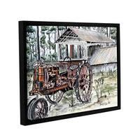 ArtWall Derek Mccrea 'Farm Tractor ' Gallery-wrapped Floater-framed Canvas