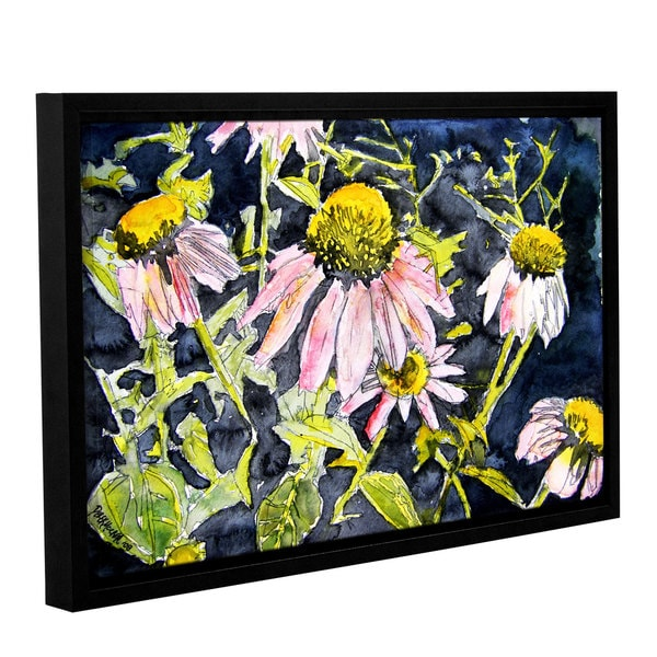 ArtWall Derek Mccrea 'Echinacea' Gallery-wrapped Floater-framed Canvas