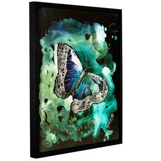ArtWall Derek Mccrea 'Digital Monarch Butterfly' Gallery-wrapped Floater-framed Canvas