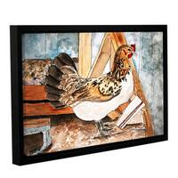 ArtWall Derek Mccrea 'Chicken' Gallery-wrapped Floater-framed Canvas