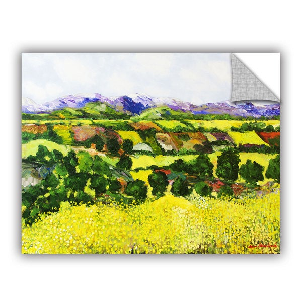 ArtAppealz Allan Friedlander 'Yellow Weeds' Removable Wall Art