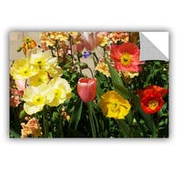 ArtAppealz Allan Friedlander 'Yellow Flowers' Removable Wall Art