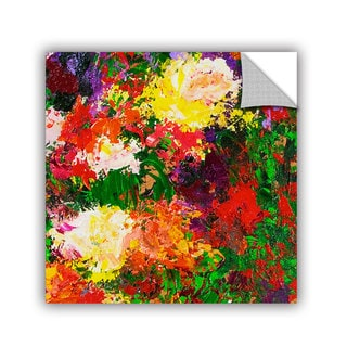 ArtAppealz Allan Friedlander 'Wisteria And Roses' Removable Wall Art
