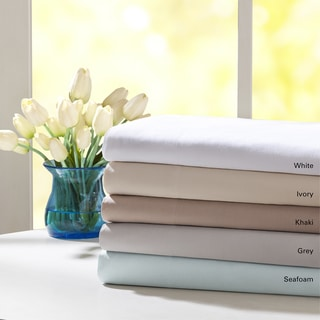 Madison Park Forever Percale Pre-Shrunk Cotton Sheet Set