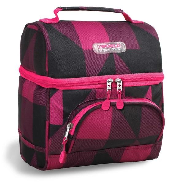 J World Block Pink Corey Lunch Bag
