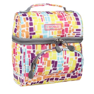J World Squares Neon Corey Lunch Bag