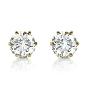 Prong Cubic Zirconia Stud Earrings