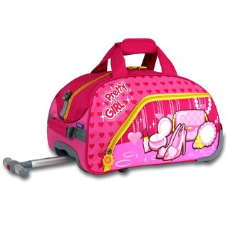 J World Pretty Girl Kids 17-inch Rolling Duffel Bag
