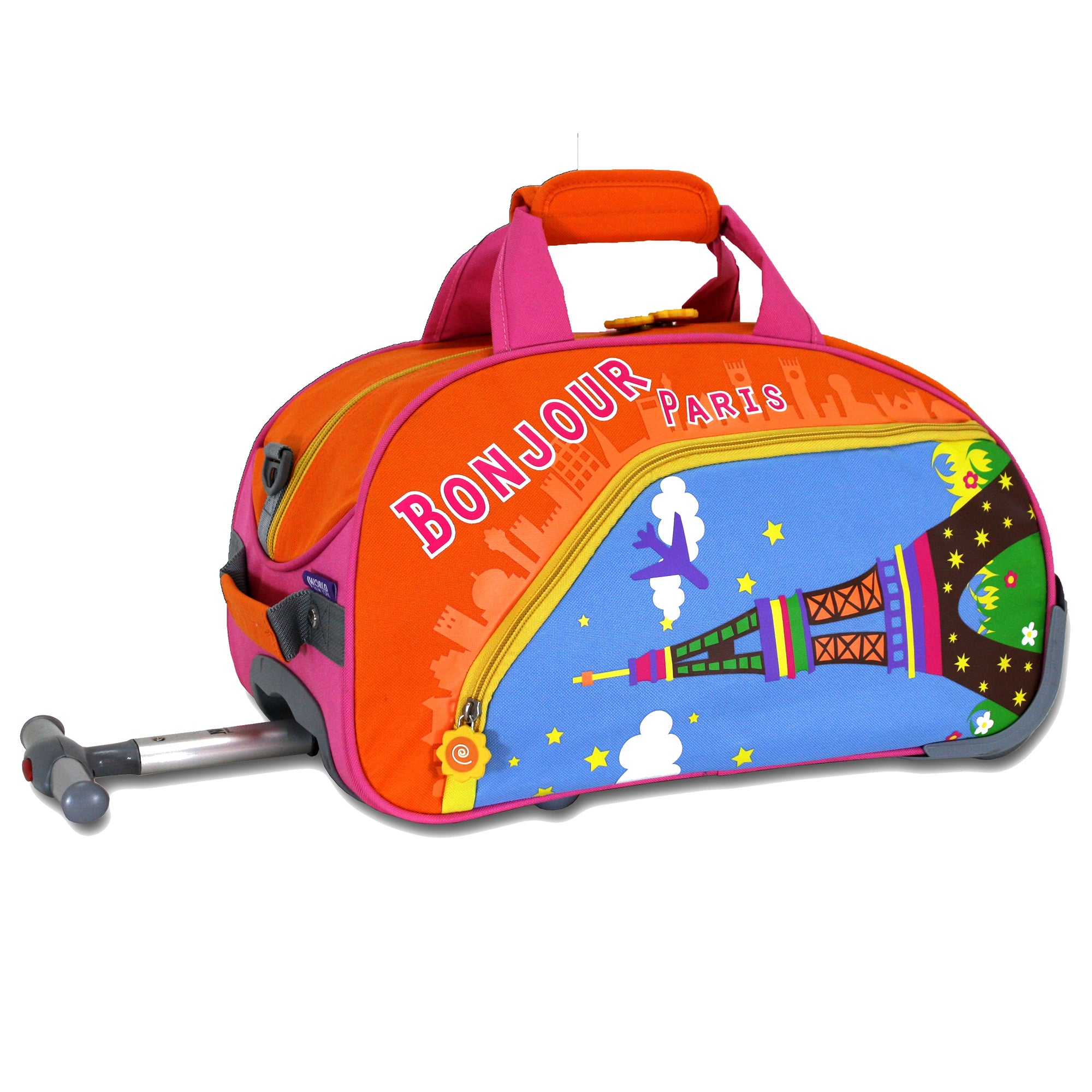 J World Paris Kids 17-inch Rolling Duffel Bag (Paris), Or...
