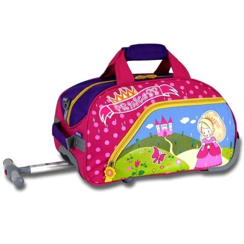 J World Princess Kids 17-inch Rolling Duffel Bag