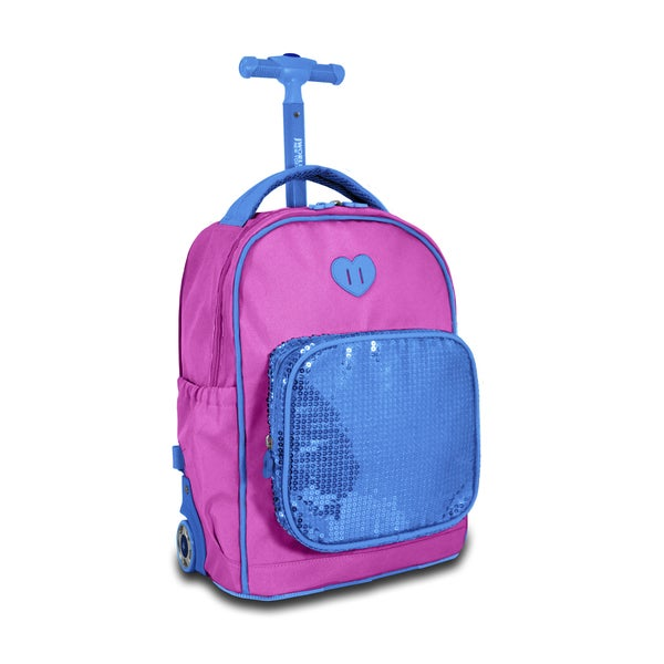 J World Sparkle Kids 15-inch Rolling Backpack - Free Shipping ...