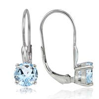 Glitzy Rocks Sterling Silver 2ct TGW Topaz Leverback Earrings
