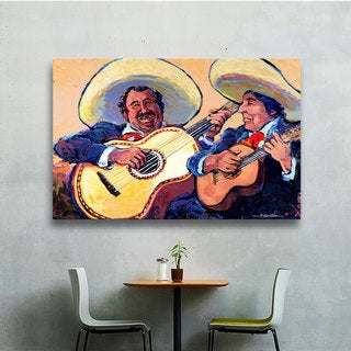 ArtWall Rick Kersten 'Mariachi De Cabo' Gallery-wrapped Floater-framed Canvas